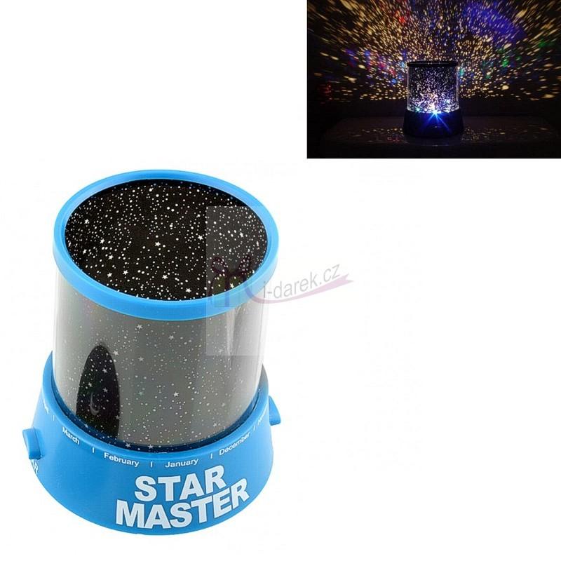 Projektor noční oblohy hvězdy - modrý