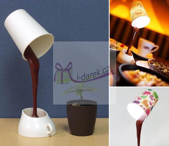 USB lampa - kelímek s vytékající čokoládou