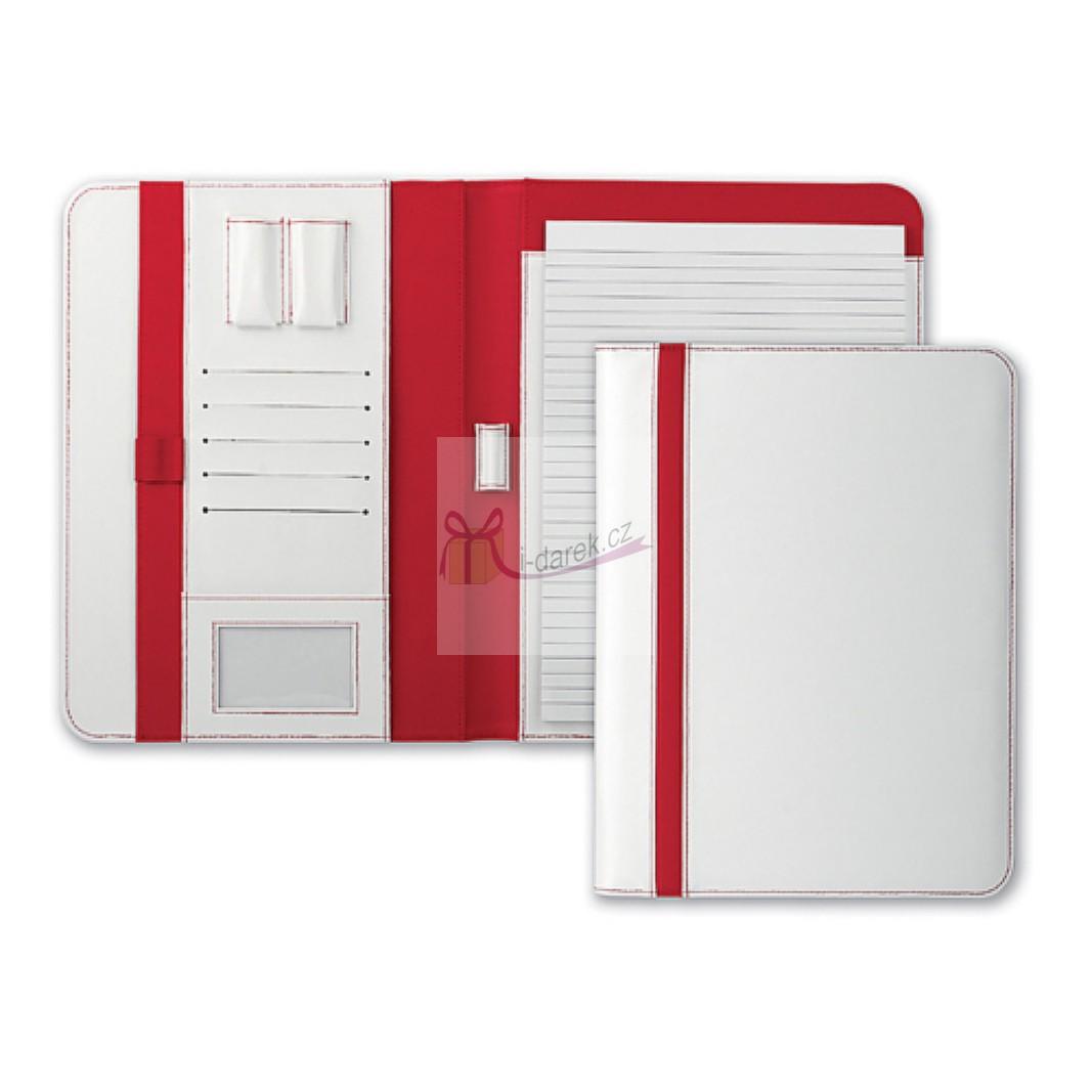 Červenobílý manažerský organizer (desky) A4 TEREUS