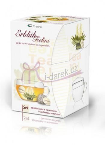 Kompletní dárková sada - 8 ks bílý kvetoucí čaj Abloom Tealini+čajový šálek