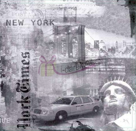 Korkové prostírání malé 10,5x10,5cm sada 4ks - New York
