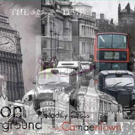 Korkové prostírání malé 10,5x10,5cm sada 4ks - Londýn