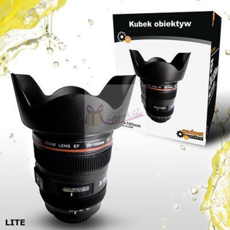 Hrnek objektiv pro fotografa- Lens cup light