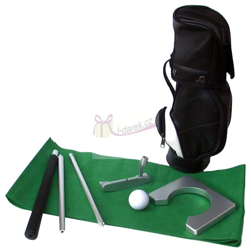 Tréninková sada v golfovém bagu - green do kanceláře