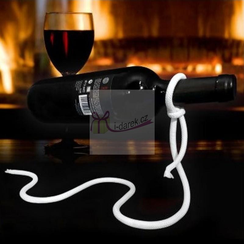 Provazový držák na víno - Laso