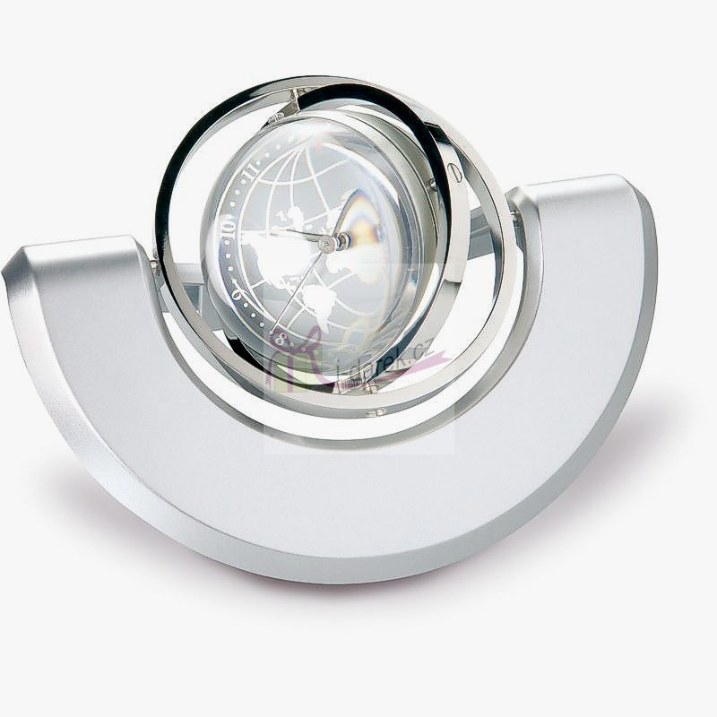 Luxusní hodiny rotující zeměkoule v půlměsíci