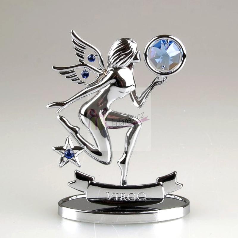 Znamení zvěrokruhu Swarovski PANNA - stříbrná