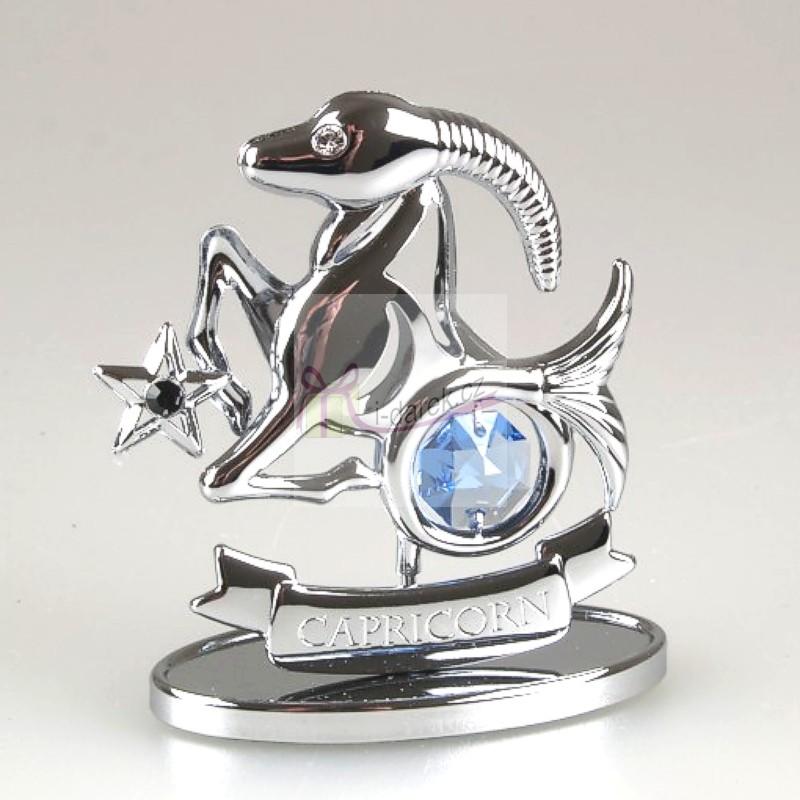 Znamení zvěrokruhu Swarovski KOZOROH - stříbrná