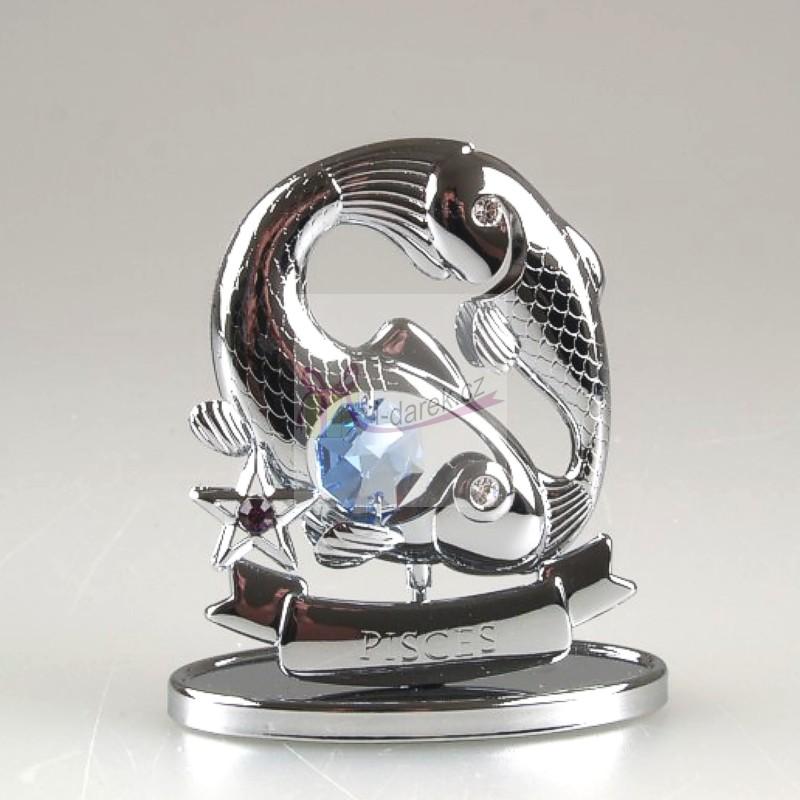 Znamení zvěrokruhu Swarovski RYBY - stříbrná