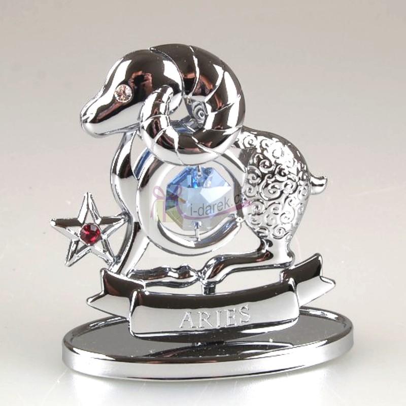 Znamení zvěrokruhu Swarovski BERAN - stříbrná
