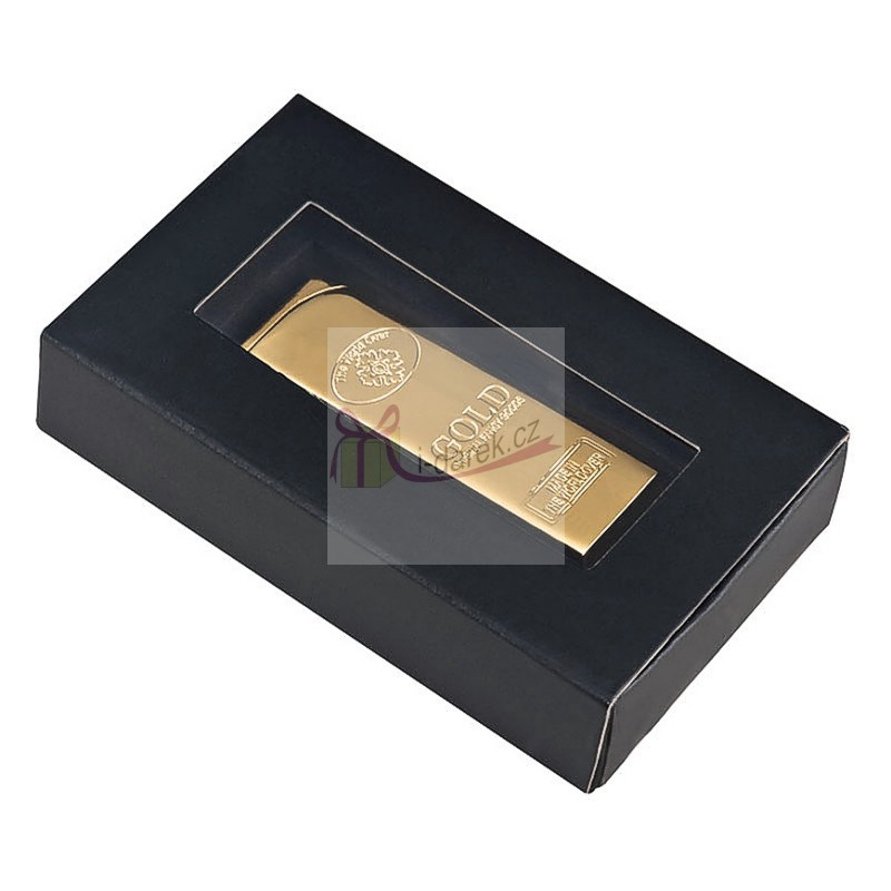 Kovový zapalovač GOLD - zlatá cihla