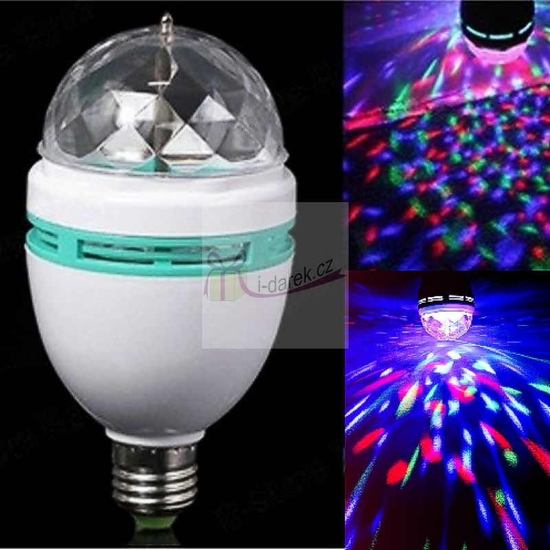 Rotující disco LED světlo - žárovka