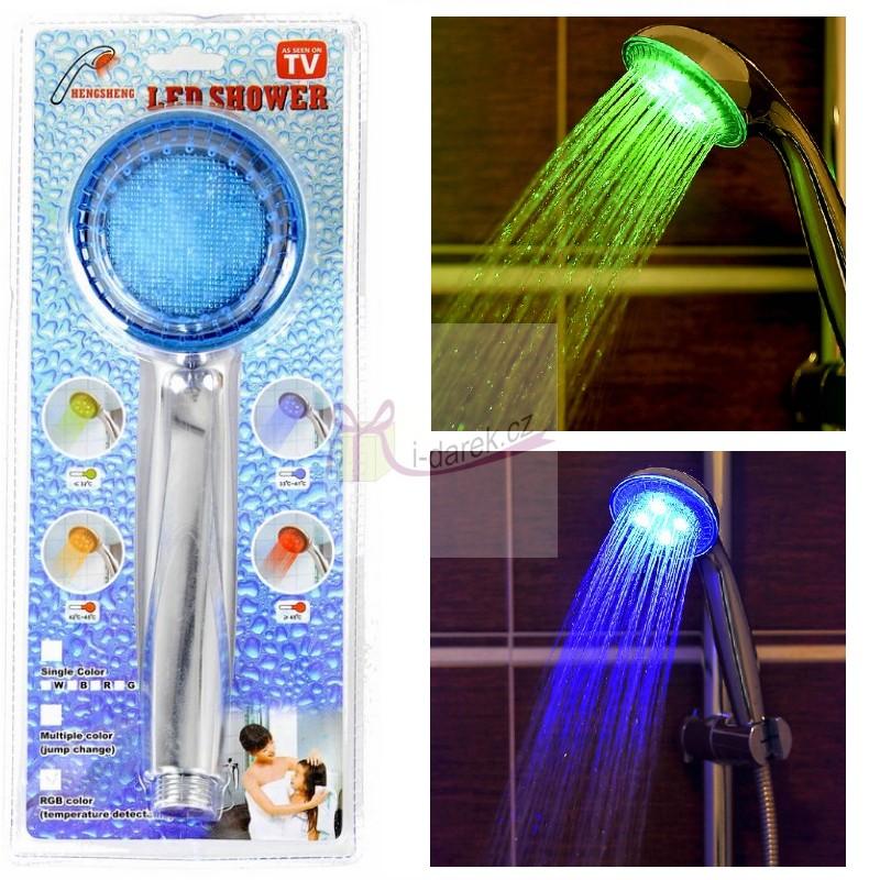 Sprchová hlavice s LED podsvícením dle teploty vody