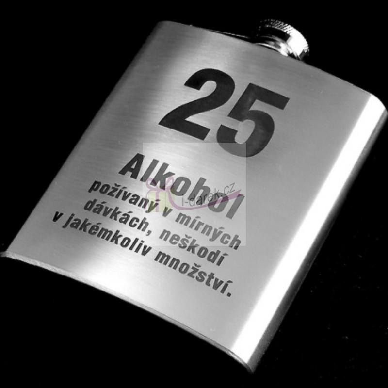 přání k narozeninám 25 let Pro muže | Kovová placatka   butylka jubileum výročí 25 let  přání k narozeninám 25 let
