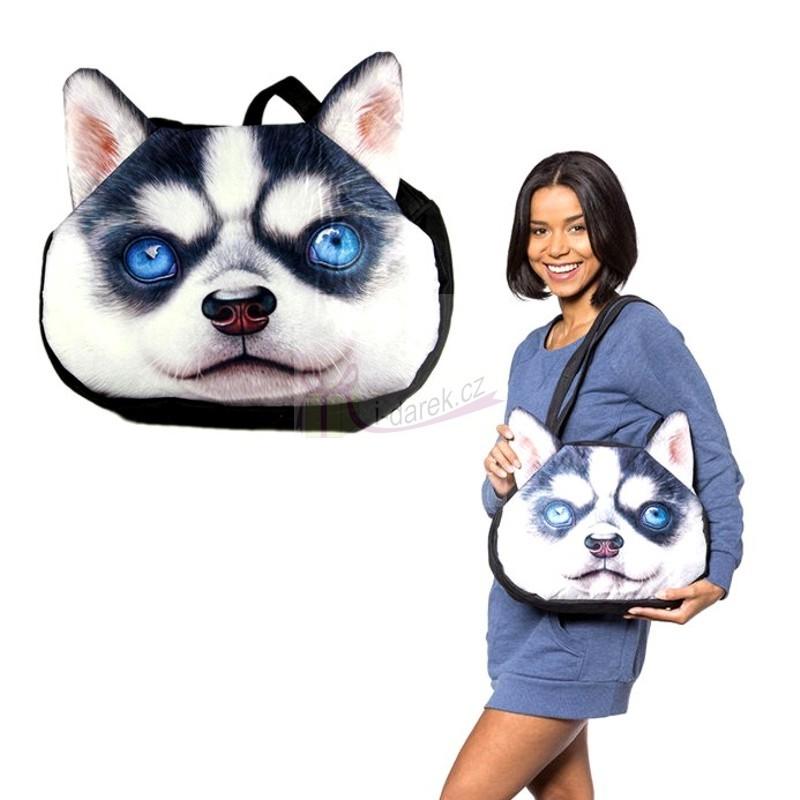 Originální kabelka pes - Sibiřský husky