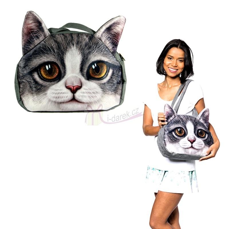 Originální kabelka kočka - Dvoubarevná