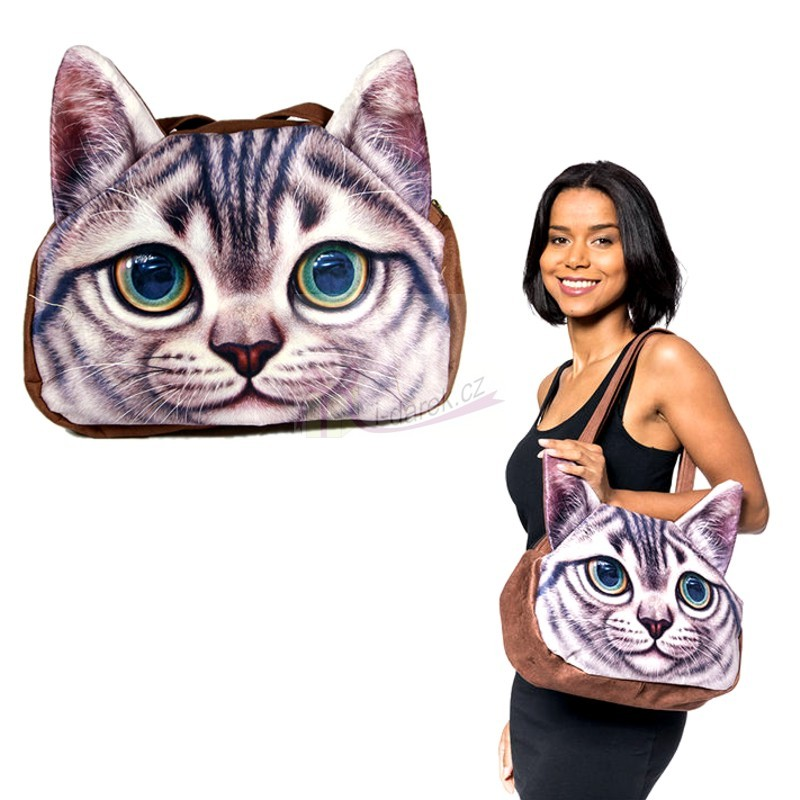 Originální kabelka kočka - Mourovatá