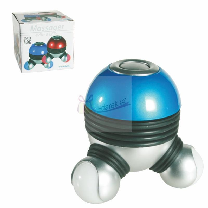 Masážní přístroj s modrým LED podsvícením