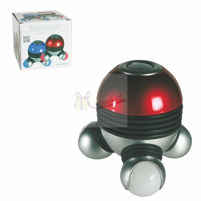 Masážní přístroj s červeným LED podsvícením