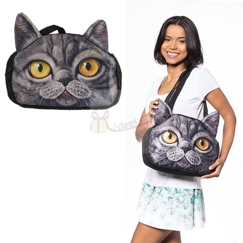 Originální kabelka kočka - Černá