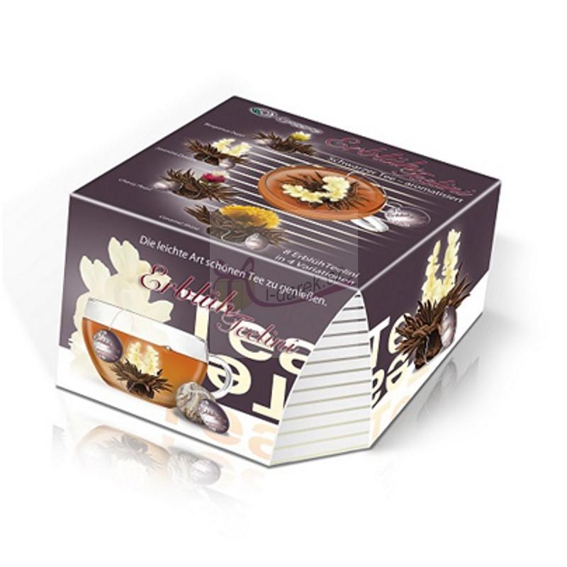 Elegantní dárkové balení - 8 ks černý kvetoucí čaj Abloom Tealini