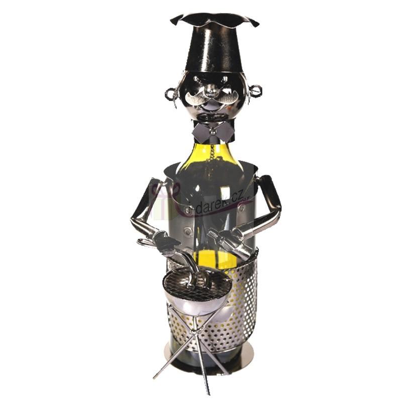 Kovový stojan na láhev BBQ Shef - MISTR GRILOVÁNÍ