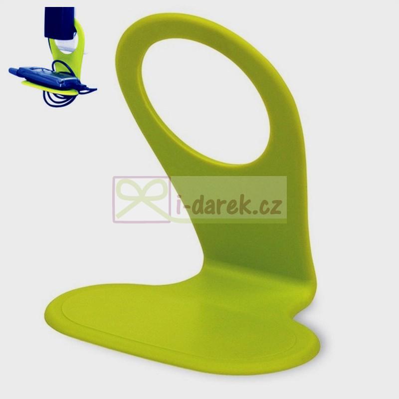 Držák mobilu při nabíjení - zelený