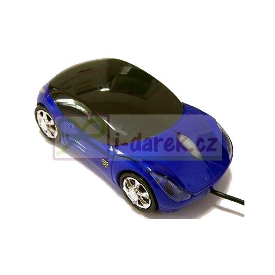 Myš k PC Porsche Carerra 911 - modré auto