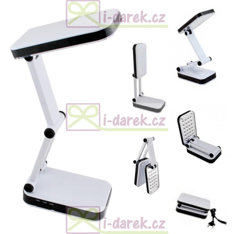 Skládací stolní LED lampička - 24 LED