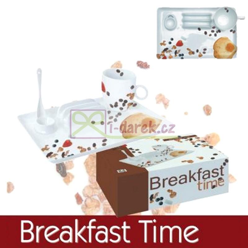 Porcelánový snídaňový set - BREKFEST TIME
