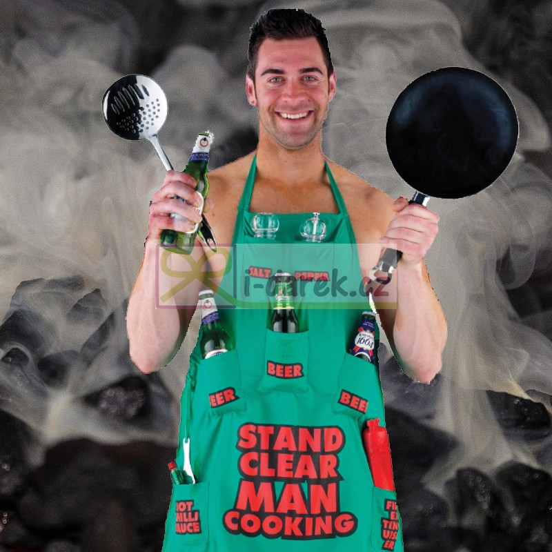 Kuchařská zástěra 7 kapes - Man Cooking