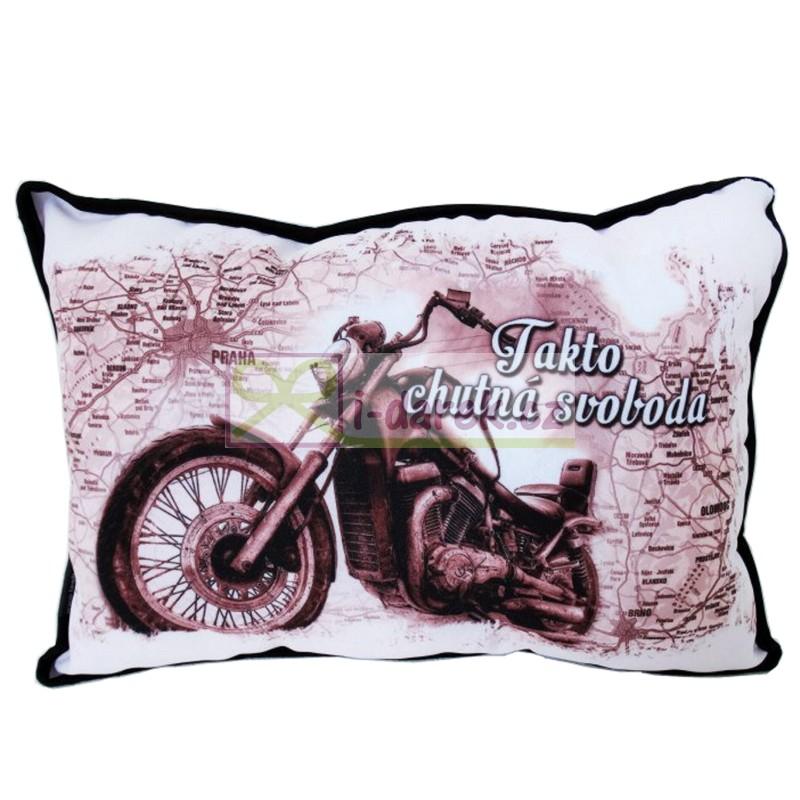motorkářské přání k narozeninám NOVINKY a AKCE | Polštářek pro motorkáře – Svoboda | Originální  motorkářské přání k narozeninám
