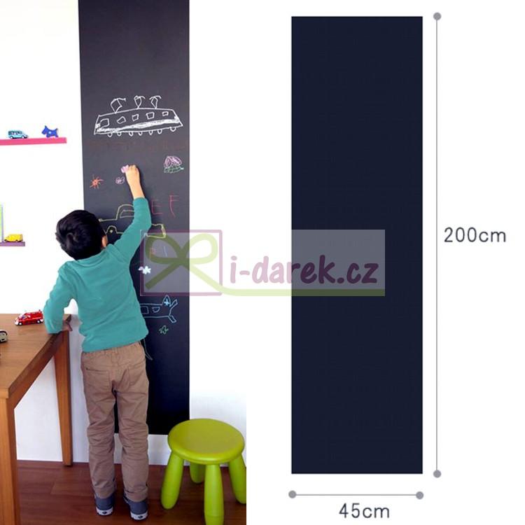 Černá nalepovací tabule - omyvatelná