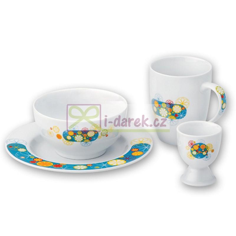 Porcelánový snídaňový set - COLOR