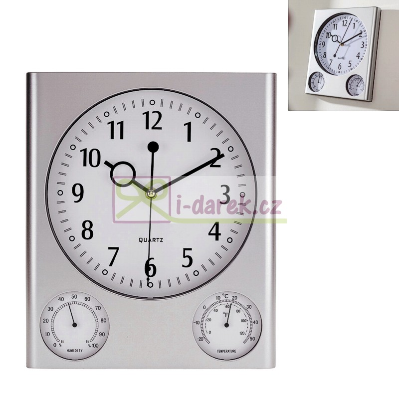 Obdélníkové stříbrné hodiny ae074bd6d2