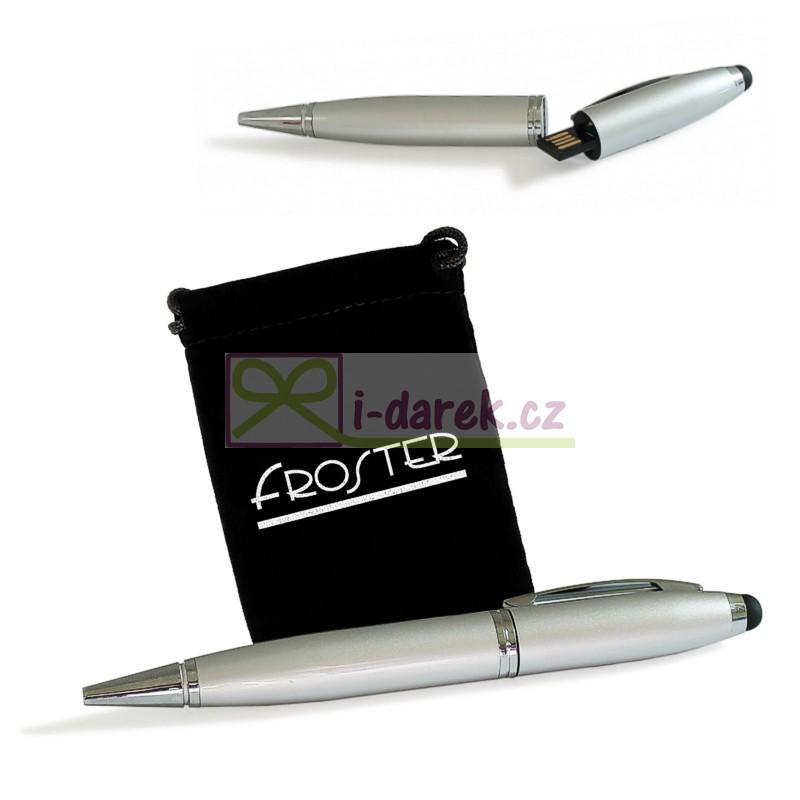 Kuličkové pero USB flash disk 16GB se stylusem
