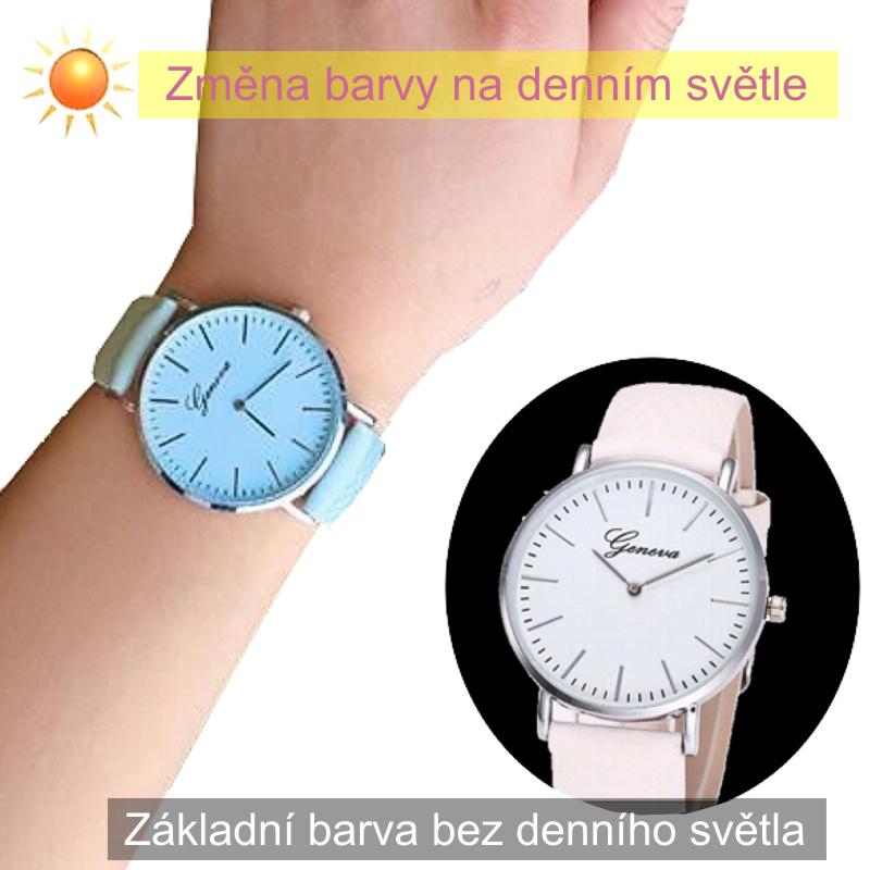 Magické hodinky měnící barvu - modré  bcd87036d9
