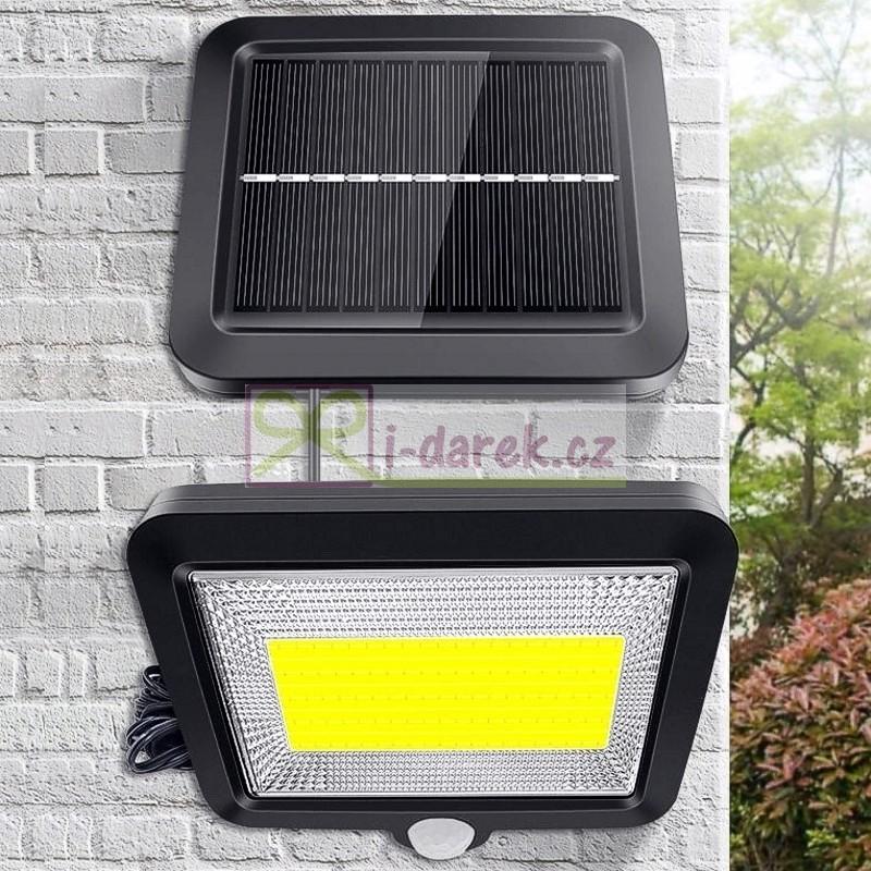 Venkovní 100 LED COB osvětlení se samostatným solárním panelem - 10729