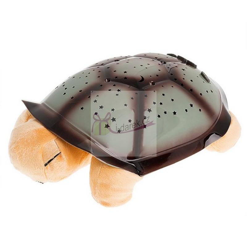 Noční svítící želvička pro klidné usínání - hnědá želva