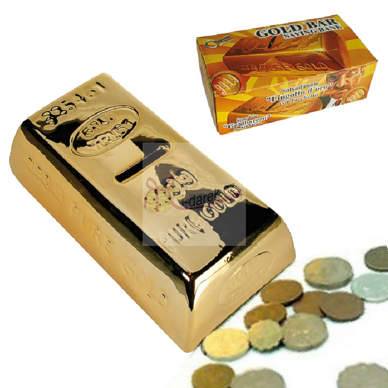 Zlatá cihla jako pokladnička