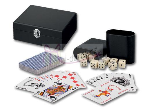 Sada žolikové hrací karty a 10 kostek JUEGOS