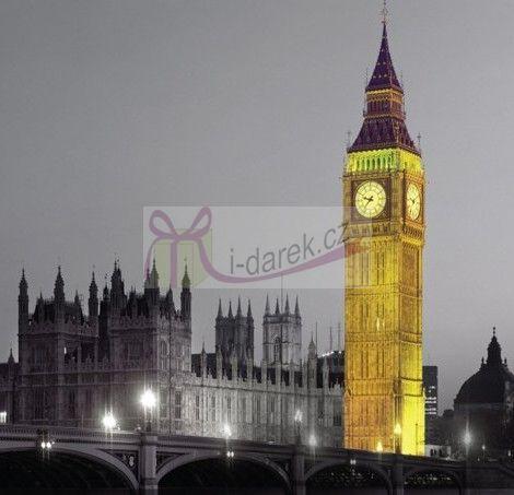 Korkové prostírání malé 10,5x10,5cm sada 4ks - Londýn Big Ben