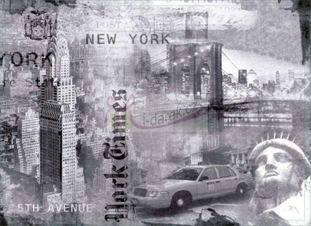 Korkové prostírání velké 40x29cm sada 4ks -New York