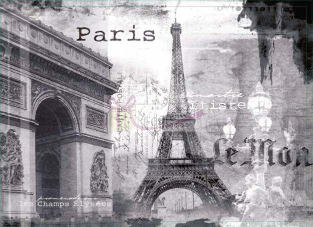 Korkové prostírání velké 40x29cm sada 4ks - Paříž