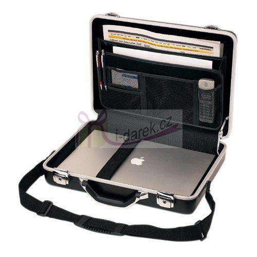 Notebookový hliníkový kufřík, uzamykatelný, černý