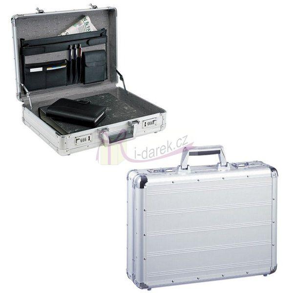 Uzamykatelný hliníkový kufřík s organizérem- stříbrný