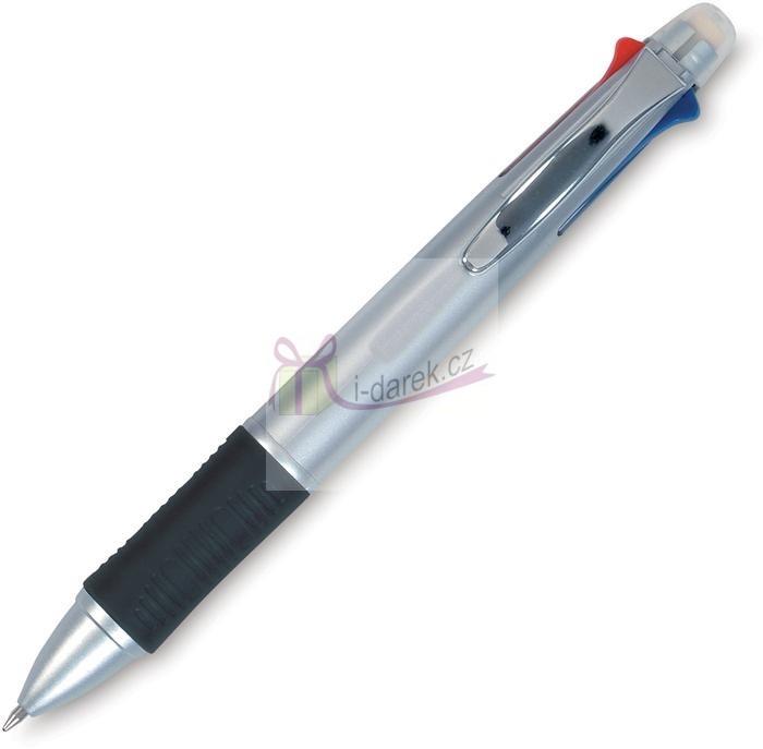 Multifunkční pero 6 v 1 (4 propisky, tužka, guma)