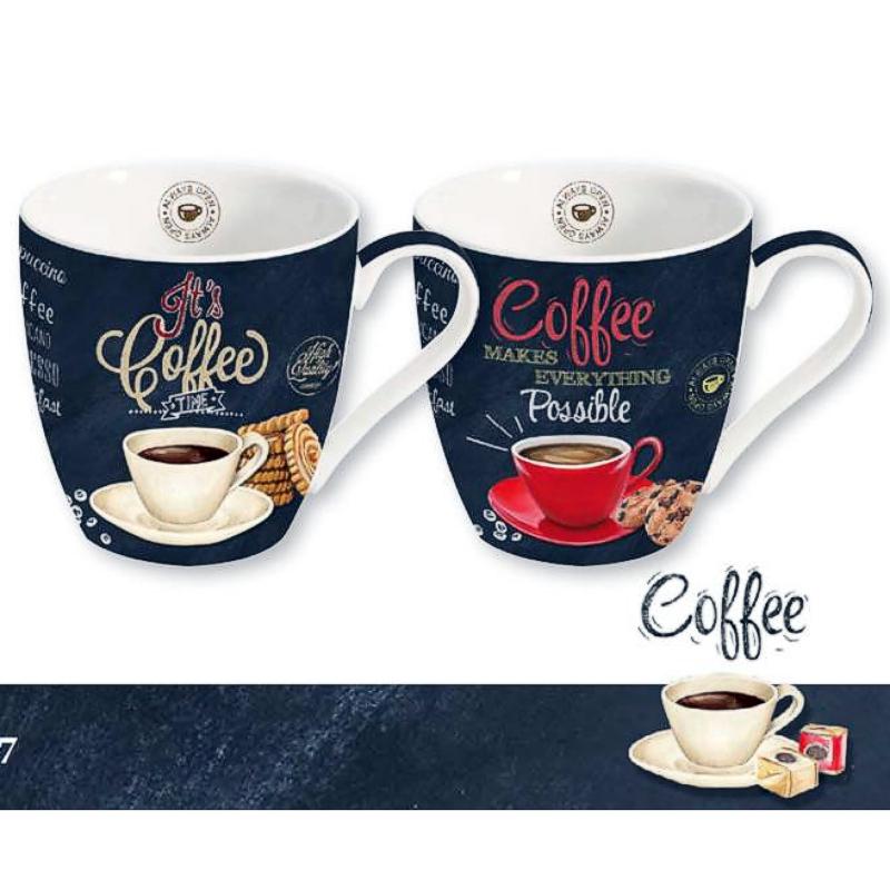 Dva luxusní porcelánové hrnečky - COFFEE