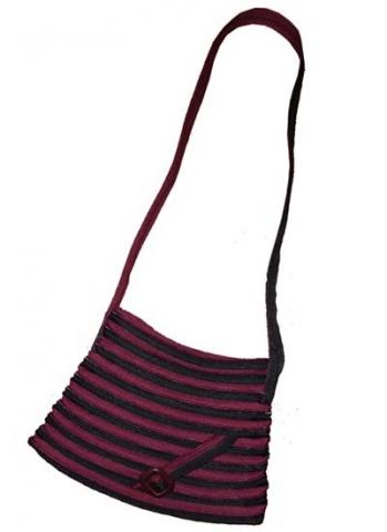 ZIPová kabelka fialovo-černá, originální kabelka celá ze zipu